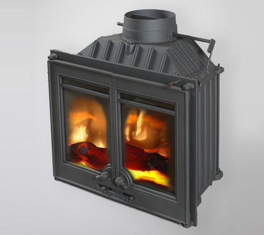 "Fireplace insert ""Lotus"" with damper and collector"