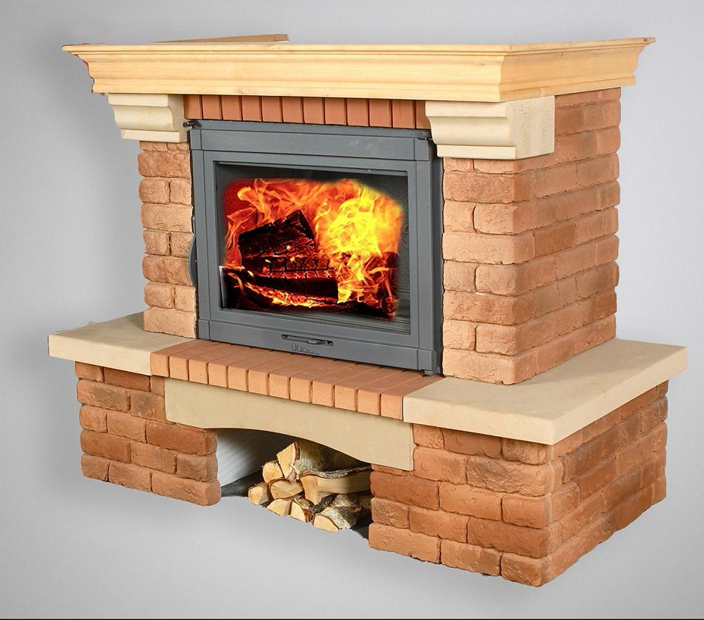 Super set! Fireplace veneer Rundāle + fireplace insert Lotus
